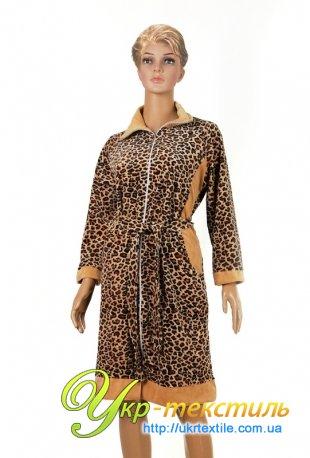 леопардовый халат guzel 2050