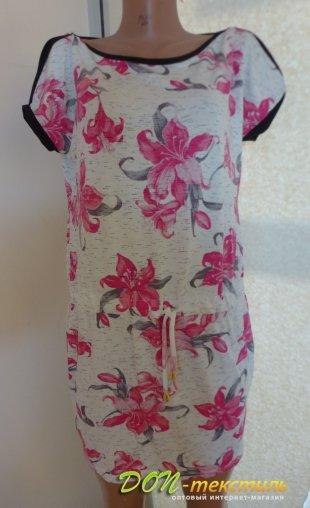 Платье женское 271- E Fashion цветы