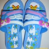 Тапочки детские бабочки (девочка) 222 Д
