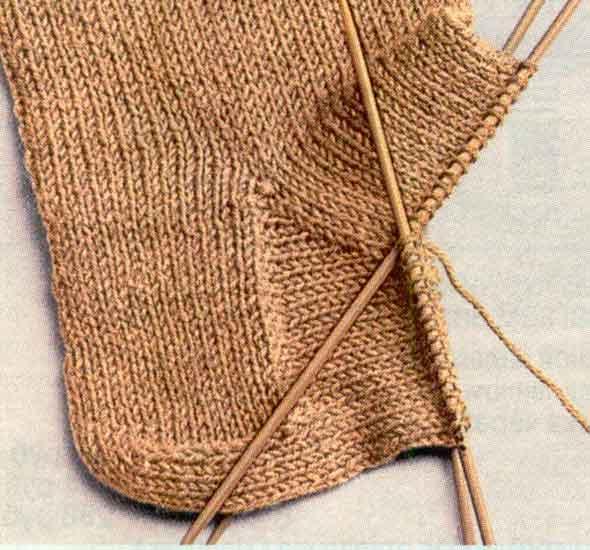 Вязание носков - вязание клина